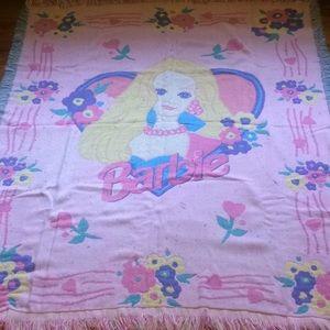 Vintage Barbie Throw Blanket